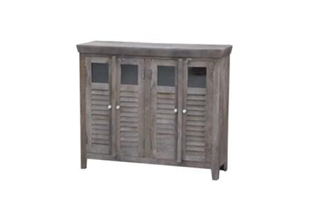 Sand Blast Walnut 4-Door Wine Cabinet - Main