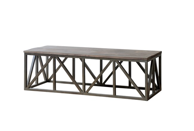 Natural Mango Console Table - 360