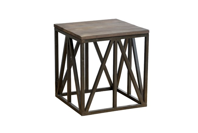 Sand Blast Finish End Table - 360