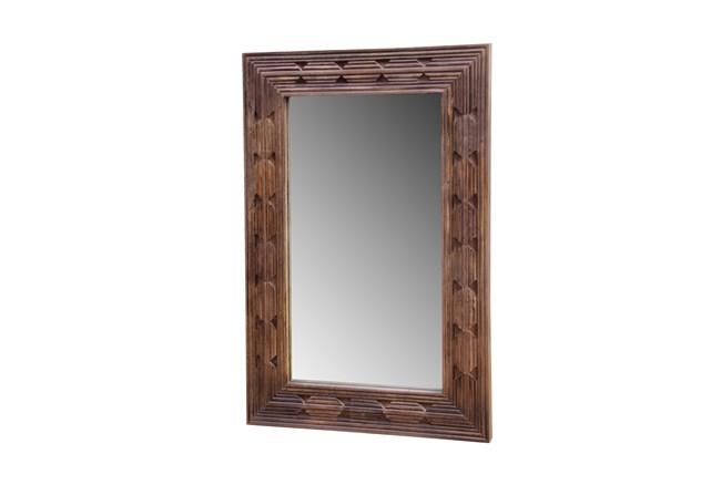 Burn Tan Finish Mirror Frame - 360