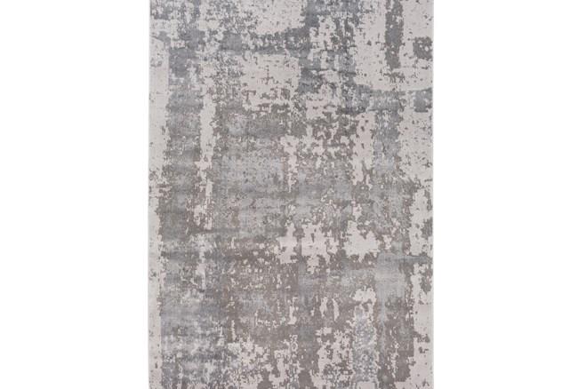 94X122 Rug-Silver Burnout - 360