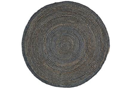 60 Inch Round Rug-Denim Jute
