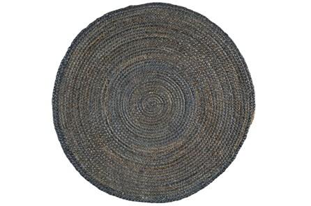 60 Inch Round Rug-Denim Jute - Main