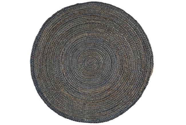 60 Inch Round Rug-Denim Jute - 360