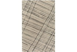 24X36 Rug-Crossed Charcoal Lines