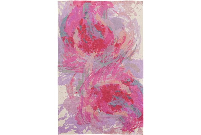 2'x3' Rug-Pink Brushstrokes - 360