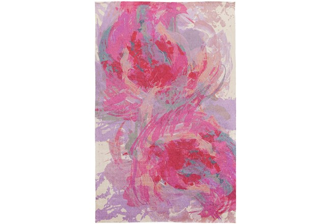 48X72 Rug-Pink Brushstrokes - 360
