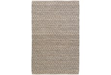 2'x3' Rug-Diamond Stripe Dark Grey