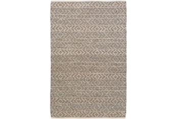 2'x3' Rug-Diamond Stripe Dark Grey