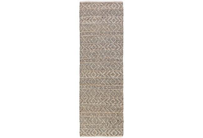 "2'5""x8' Rug-Diamond Stripe Dark Grey - 360"