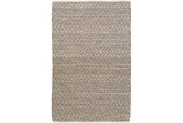 4'x6' Rug-Diamond Stripe Dark Grey