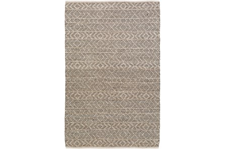48X72 Rug-Diamond Stripe Dark Grey - Main