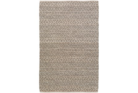 60X90 Rug-Diamond Stripe Dark Grey