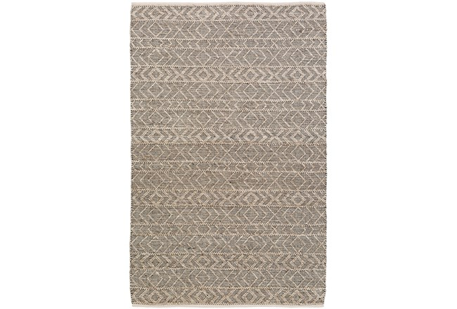 "5'x7'5"" Rug-Diamond Stripe Dark Grey - 360"