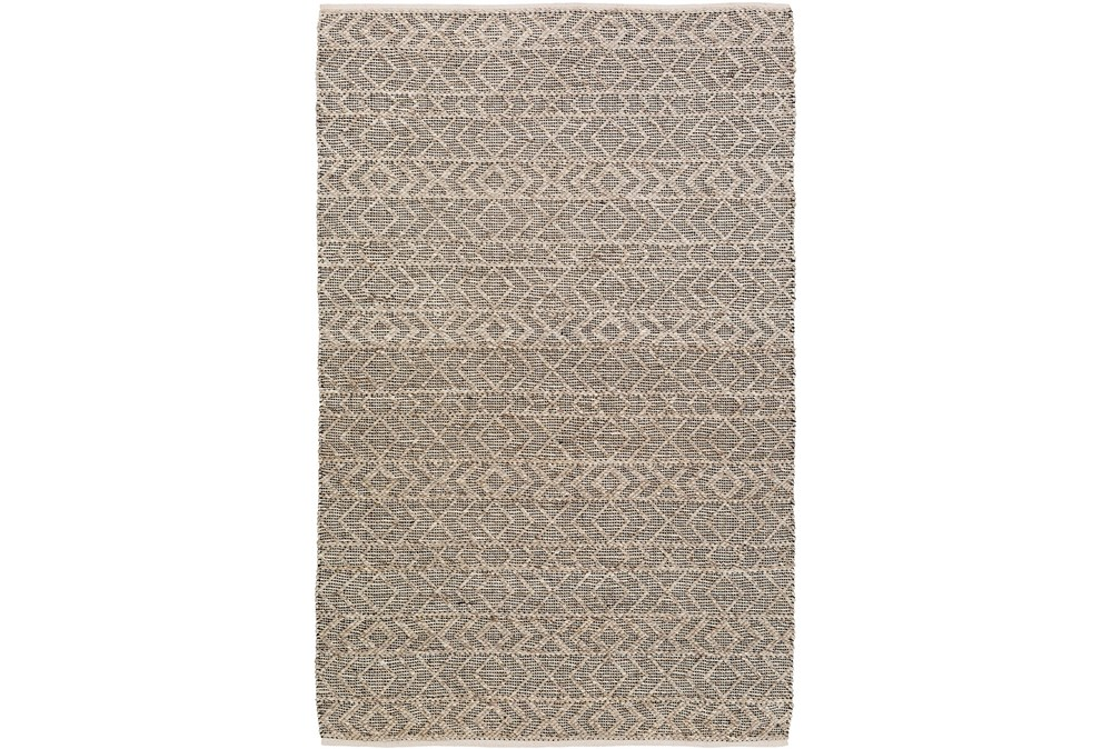72X108 Rug-Diamond Stripe Dark Grey