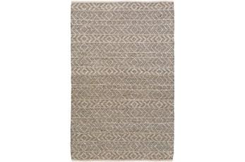 8'x10' Rug-Diamond Stripe Dark Grey