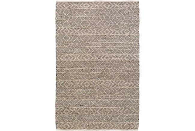 8'x10' Rug-Diamond Stripe Dark Grey - 360