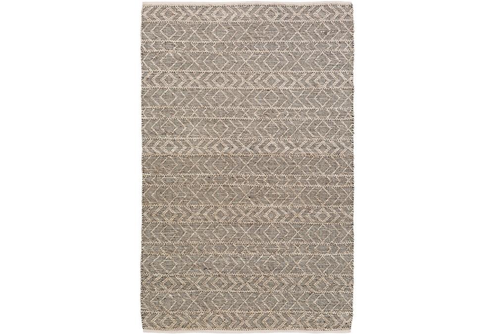 108X156 Rug-Diamond Stripe Dark Grey