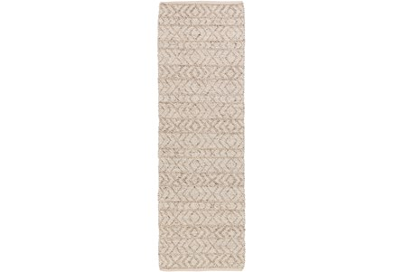 30X96 Rug-Diamond Stripe Taupe