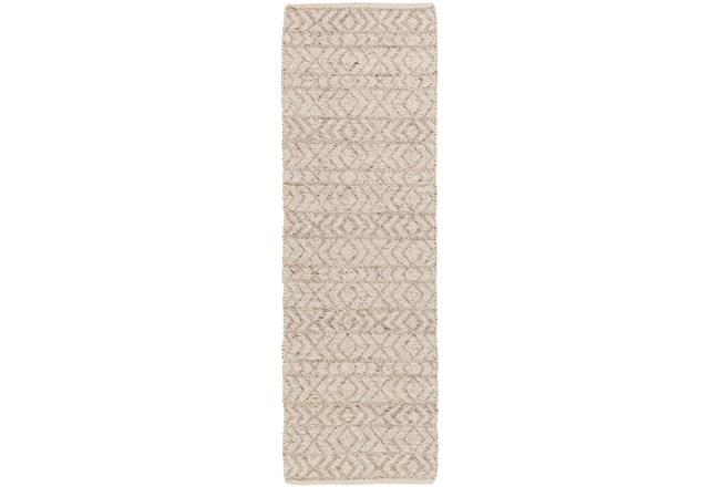 30X96 Rug-Diamond Stripe Taupe - 360