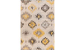 80X116 Rug-Yellow/Grey Ikat