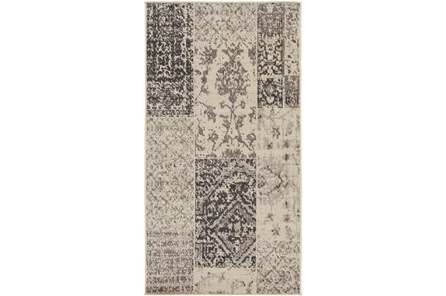 32X60 Rug-Grey Patchwork