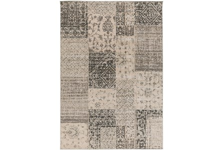 80X116 Rug-Grey Patchwork