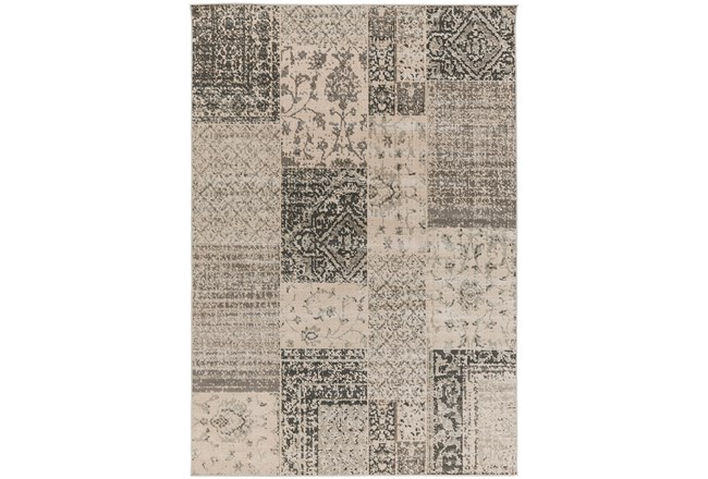 80X116 Rug-Grey Patchwork - 360