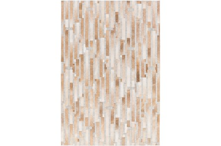 24X36 Rug-Tan Modern Stripes Hide