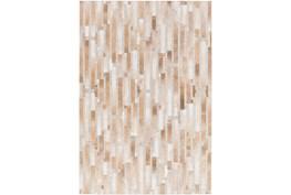 60X90 Rug-Tan Modern Stripes Hide
