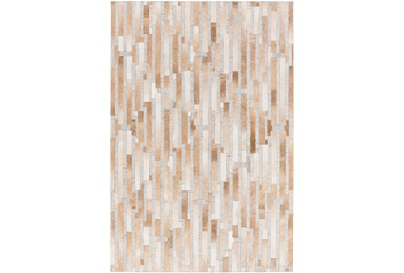 60X90 Rug-Tan Modern Stripes Hide