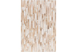 96X120 Rug-Tan Modern Stripes Hide