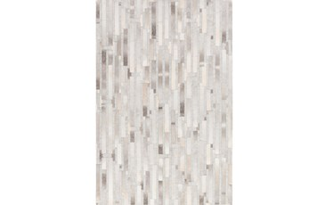 2'x3' Rug-Grey Modern Stripes Hide