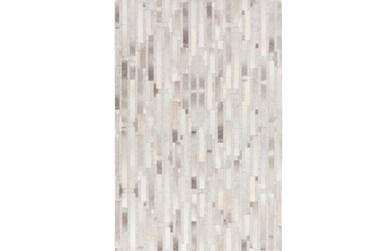 2'x3' Rug-Grey Modern Stripes Hide