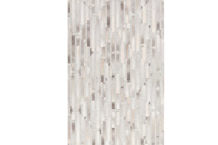 24X36 Rug-Grey Modern Stripes Hide - Main
