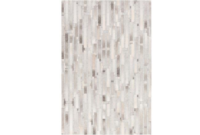 24X36 Rug-Grey Modern Stripes Hide - 360