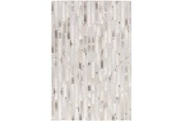 "5'x7'5"" Rug-Grey Modern Stripes Hide"