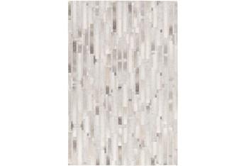 """5'x7'5"""" Rug-Grey Modern Stripes Hide"""