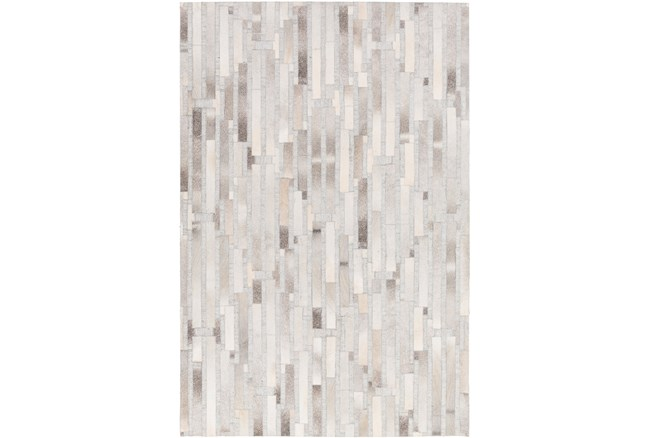"""5'x7'5"""" Rug-Grey Modern Stripes Hide - 360"""