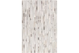 96X120 Rug-Grey Modern Stripes Hide