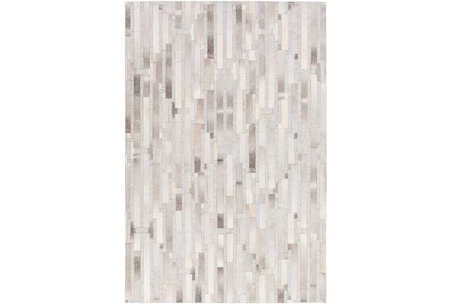 96X120 Rug-Grey Modern Stripes Hide - 360
