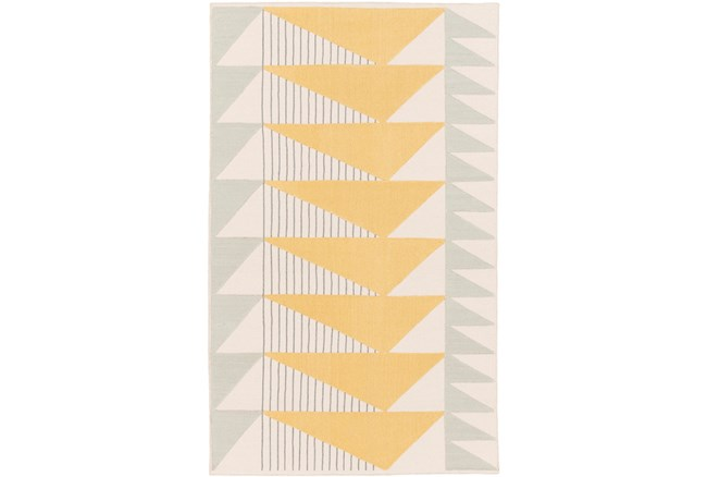 24X36 Rug-Yellow Triangle Flatweave - 360