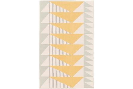 96X120 Rug-Yellow Triangle Flatweave