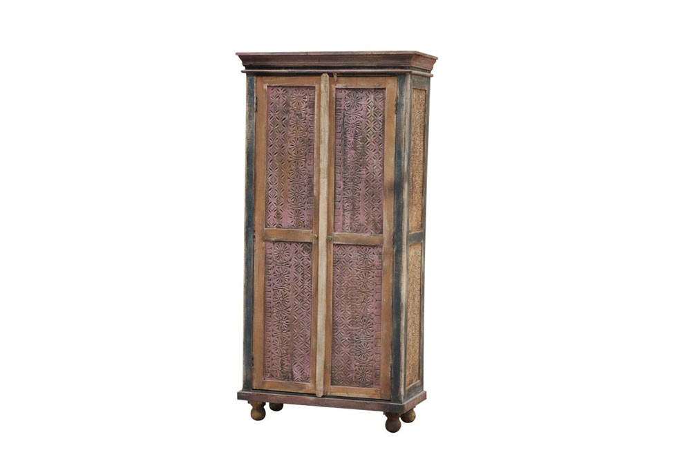 Painted Finish 2-Door Tall Cabinet