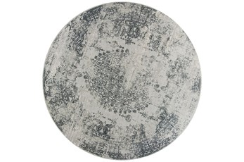 91 Inch Round Rug-Antique Grey