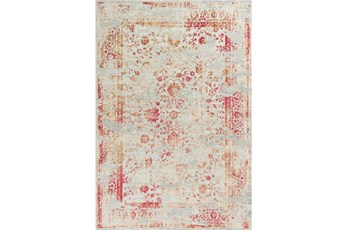63X91 Rug-Antique Red