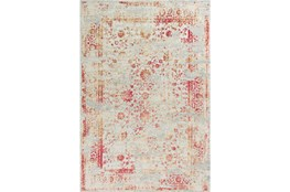 91X122 Rug-Antique Red