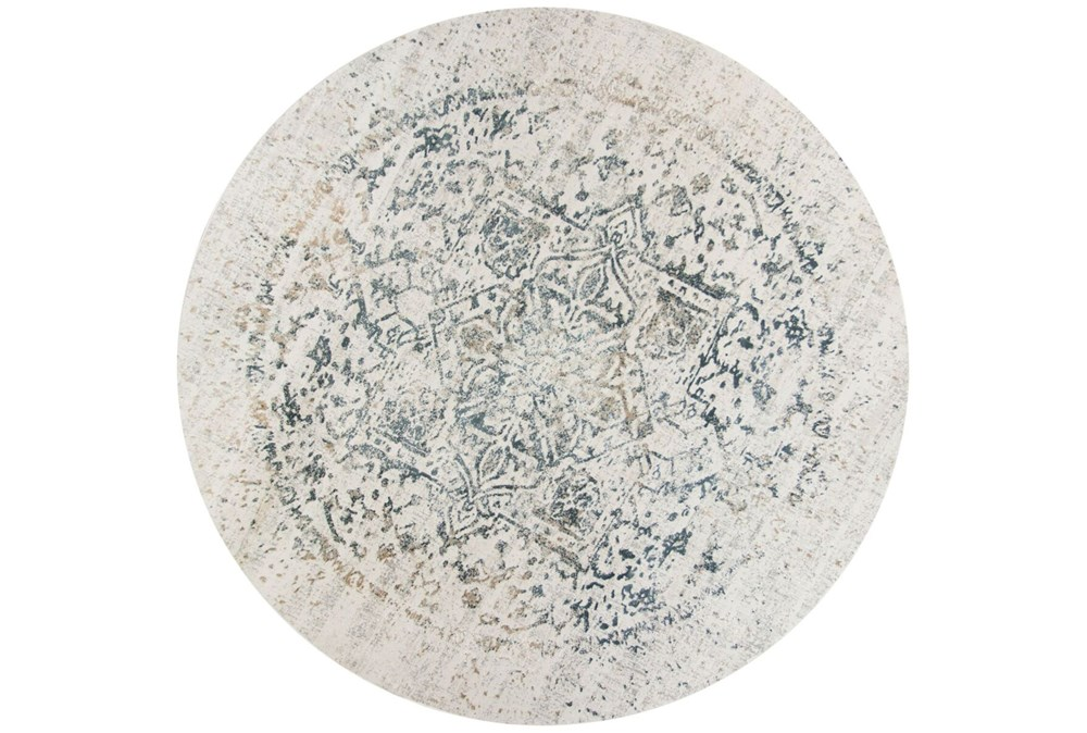91 Inch Round Rug-Antique Graphite