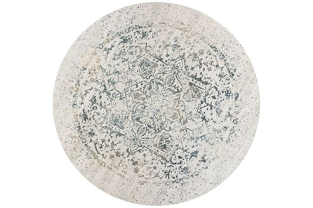 91 Inch Round Rug-Antique Graphite - Main