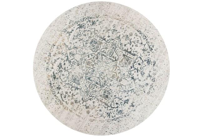 91 Inch Round Rug-Antique Graphite - 360